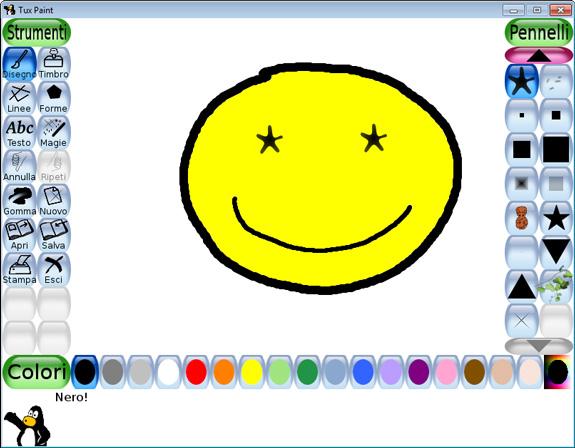 Tux paint programma gratuito di disegno per bambini for Programma di disegno software