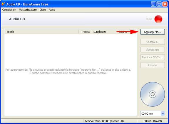 BurnAware Free CD Audio