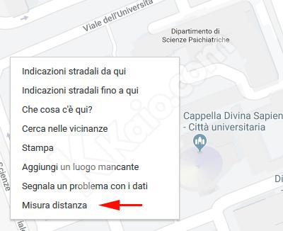 Google Maps - misura distanza
