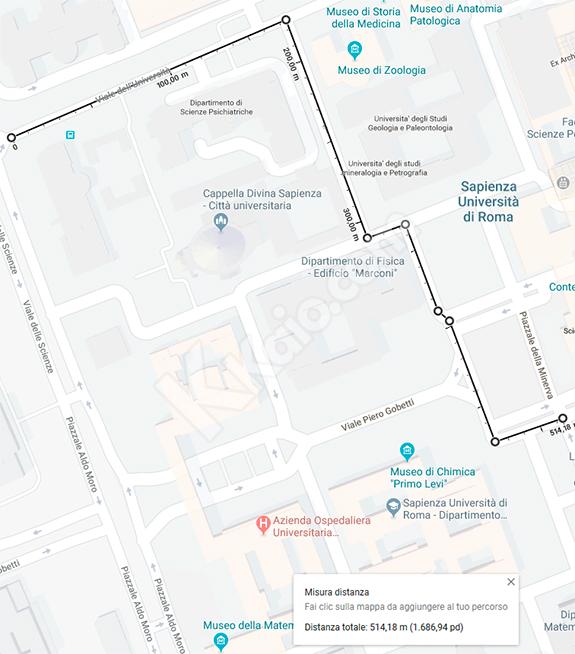 Google Maps - misurazione distanza