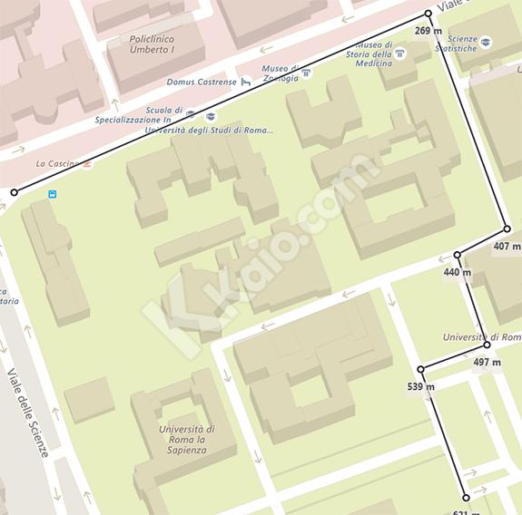 Bing Mappe -  tracciare percorso