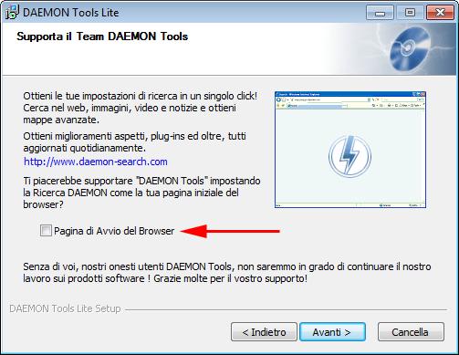 Installazione Daemon Tools