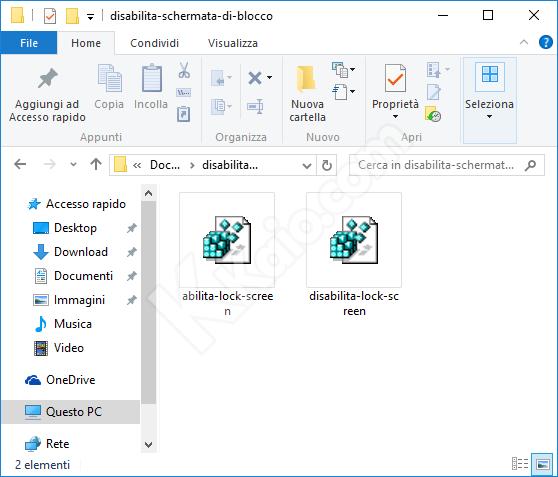 Disabilitare schermata di blocco in windows 8/8.1 e Windows 10