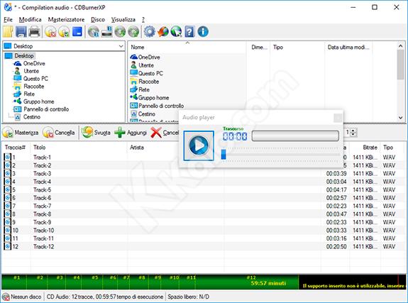 CD Audio in CDBurnerXP