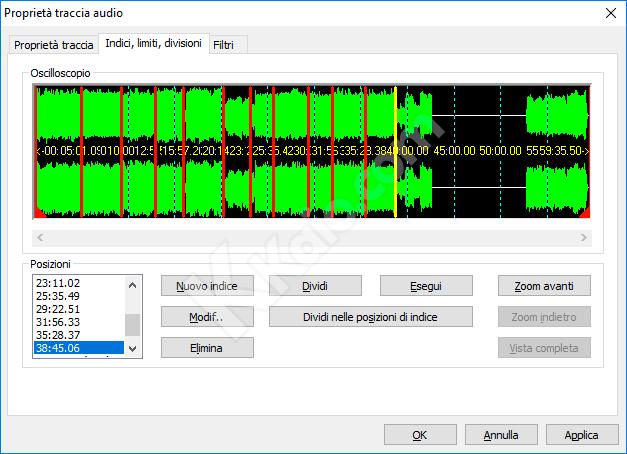 Divisione traccia audio con Nero