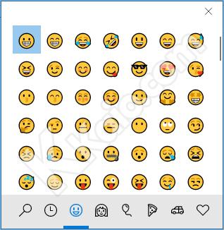 Pannello emoji Windows 10
