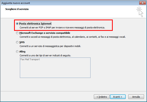 Outlook 2010 Impostazioni