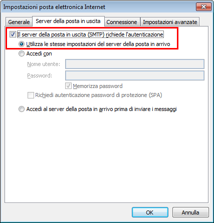 Outlook 2010 Impostazioni Avanzate