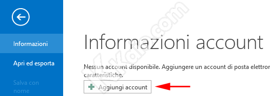 Outlook 2013 Nuovo Account