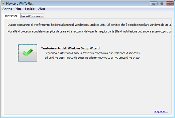 Installare Windows da Pendrive USB con WinToFlash
