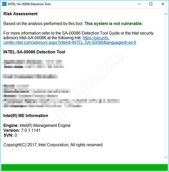 Intel SA-00086 detection tool