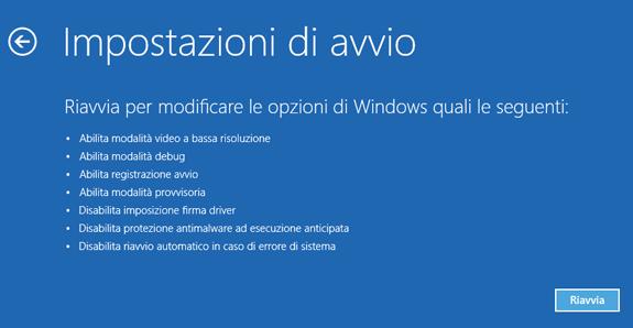modalità provvisoria windows 8