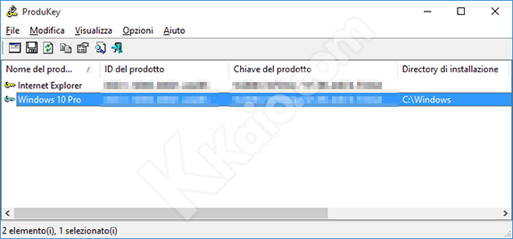 recuperare product key windows 10 da bios