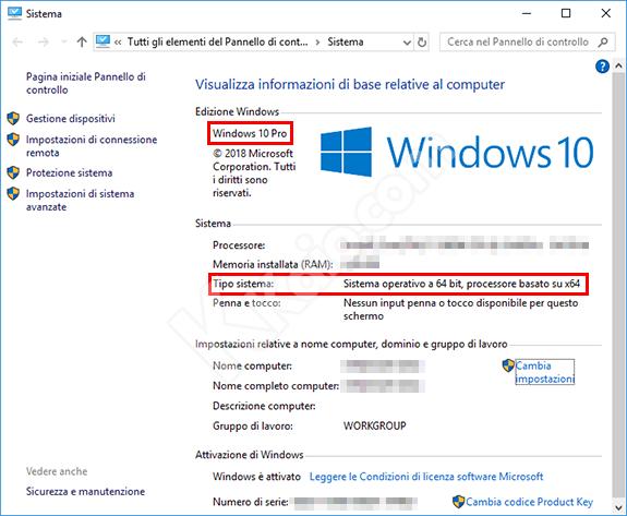 Scoprire la versione di Windows installata