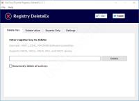 Registry DeleteEx, eliminare chiavi e valori bloccati nel registro di sistema (regedit)