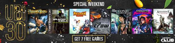 Ubisoft 7 giochi gratuiti