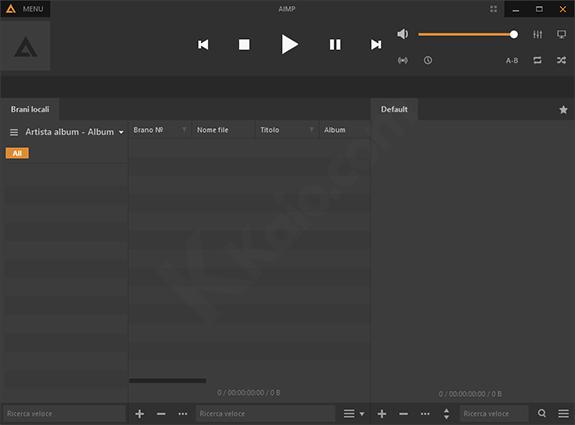 AIMP, player audio gratuito per Windows e Android